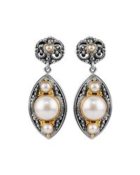 Konstantino | Natural Mabe Pearl Drop Earrings | Lyst