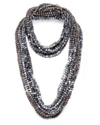Jianhui Metallic Pashmina Chain Necklace