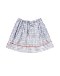 lemlem - Gray Border Skirt - Lyst