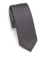BOSS Black Comma-pattern Silk Tie for men