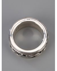 Stephen Webster | Metallic Silver Carved Thorn Rotating Band Ring for Men | Lyst
