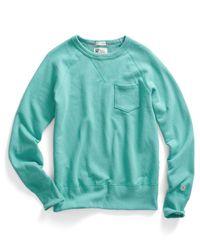 Todd Snyder | Blue Pocket Sweatshirt In Aquamarine for Men | Lyst