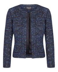 Precis Petite | Blue Tweed Embellished Jacket | Lyst