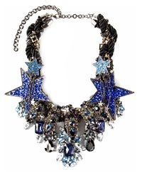 Night Market - Metallic Star Crystal Necklace - Lyst