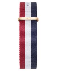 Daniel Wellington | Blue 'classic Cambridge' 20mm Nato Watch Strap | Lyst