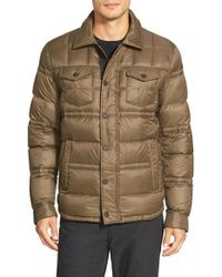 Michael Kors | Green Down Shirt Jacket for Men | Lyst