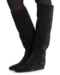 Lanvin - Black Concealed Wedge Boots - Lyst