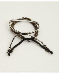 Tai | Set Of Two - Black Bar And Bead Cinch Bracelets | Lyst