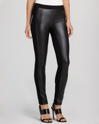 BCBGMAXAZRIA Black Leggings - Sissy Zip Pocket