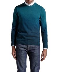 Ted Baker | Blue Holaday Sprayed Ombre Jumper for Men | Lyst
