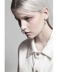 Lucky Little Blighters - Metallic Thorn Hoops Earrings - Lyst