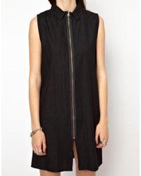 Cheap Monday Black Zip Front Dress