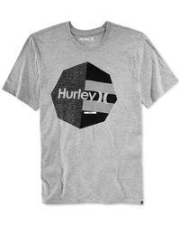 Hurley Gray Don't Stop Graphic-print Logo T-shirt for men