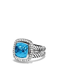 David Yurman | Metallic Albion Ring With Blue Topaz & Diamonds | Lyst