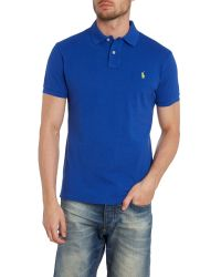 Polo Ralph Lauren Blue Short Sleeve Polo Shirt for men