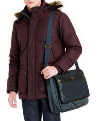 Ted Baker Blue Zip Front Messenger Bag for men