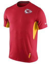 Nike Red Men's Kansas City Chiefs Vapor T-shirt for men