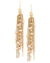 Kenneth Cole - Metallic Gold-tone Fringe Earrings - Lyst