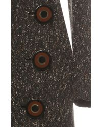 Ferragamo - Multicolor Boucle Ottoman Coat - Lyst