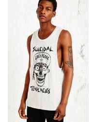 Obey White X Suicidal Tendencies Flip Cap Skull Tank for men