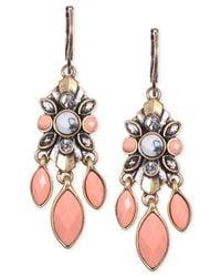 Anne Klein | Multicolor Gold-tone Drama Drop Earrings | Lyst