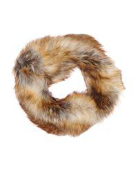 MICHAEL Michael Kors - Brown Faux Fur Snood - Lyst