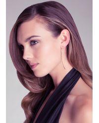 Bebe - Metallic Thin Pull Through Earring - Lyst