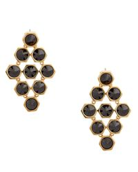 Rachel Zoe - Black Cleo 12K Gold And Stone Pyramid Earrings - Lyst