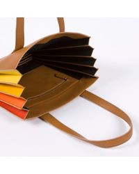 Paul Smith - Multicolor Women's Tan 'concertina' Tote Bag - Lyst