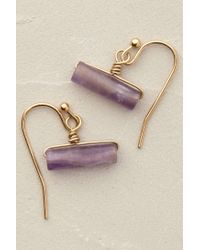 Anthropologie | Purple Athene Stone Drop Earrings | Lyst