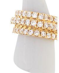 Elise Dray | Yellow Diamond, White-agate & Gold Mini-horn Earrings | Lyst