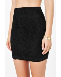 Kimchi Blue - Black Scallop Lace Mini Skirt - Lyst