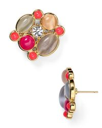 kate spade new york | Multicolor Bashful Blossom Statement Stud Earrings | Lyst