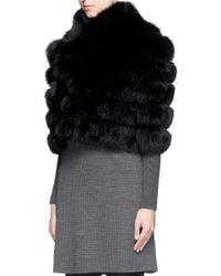 Hockley Black 'arinna' Fox Fur Cropped Jacket