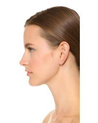 Phyllis + Rosie Metallic Mini Chain Hoop Earrings - Gold