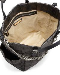 Jimmy Choo Blare Snake skin Tote Bag Black