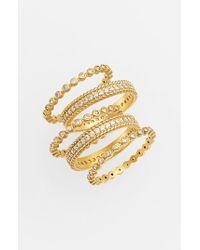 Freida Rothman | Metallic Stackable Rings (set Of 5) | Lyst