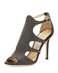 Jimmy Choo | Black 'tarine' Sandals | Lyst