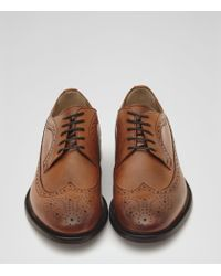 Reiss | Brown Ash Longwing Leather Brogues for Men | Lyst