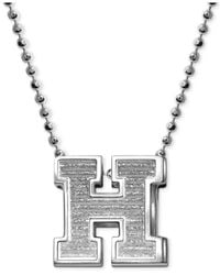 Alex Woo | Metallic Little Collegiate By Harvard Pendant Necklace In Sterling Silver | Lyst