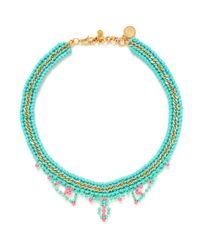 Venessa Arizaga | Blue 'summer Love' Necklace | Lyst