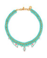 Venessa Arizaga - Blue 'summer Love' Necklace - Lyst