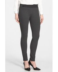 Lafayette 148 New York - Gray Contour Seam Leggings - Lyst