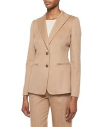 Max Mara Brown Palude Camel Hair Two-button Jacket