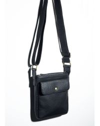 Mango - Black Cross-Body Strap Messenger Bag for Men - Lyst