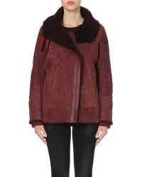 IRO | Purple Dafny Suede Jacket - For Women | Lyst