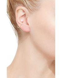 Hirotaka - White Single Akoya Pearl Ear Cuff - Lyst