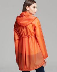 HUNTER Orange Raincoat Original Clear Smock
