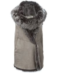 Herno - Brown Sleeveless Lamb-Fur Vest  - Lyst