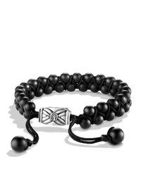 David Yurman Spiritual Beads Two-row Bracelet With Black Onyx